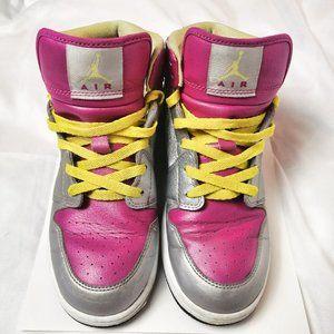 Air Jordan Girls Nike Silver Pink Yellow US 7